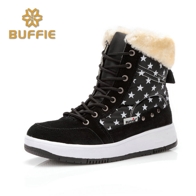 winter shoes women brand snow boots ankle short fur boots lace-up warm fur fits ture normal plus size 41 cow suede leather boots