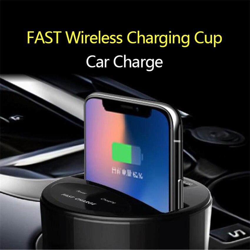 Nouveau Design tasse modèle chargeur de téléphone de voiture rapide chargeur de voiture pour IPhone 8, Samsung Galaxy S8 chargeur de voiture avec chargeur de voiture Usb supplémentaire