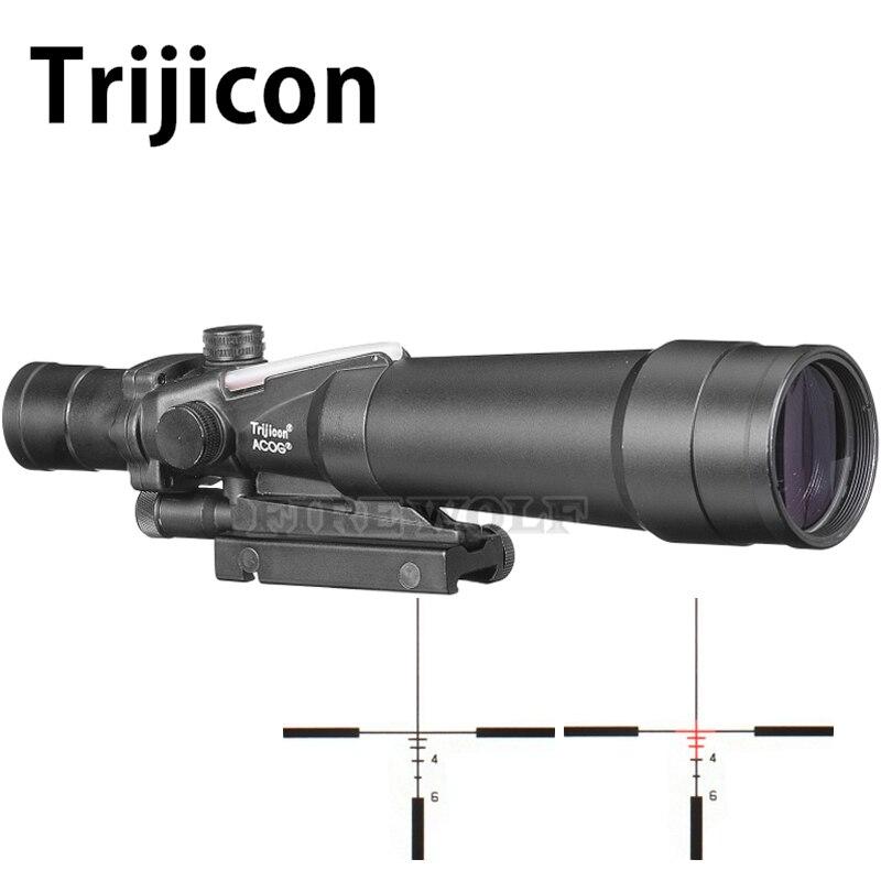 ACOG 5X50 Mirino Ottico 20/11mm A Coda di Rondine Ottica Tactical Scope Sight Per La Caccia Fucile Airsoft Sniper soft Air