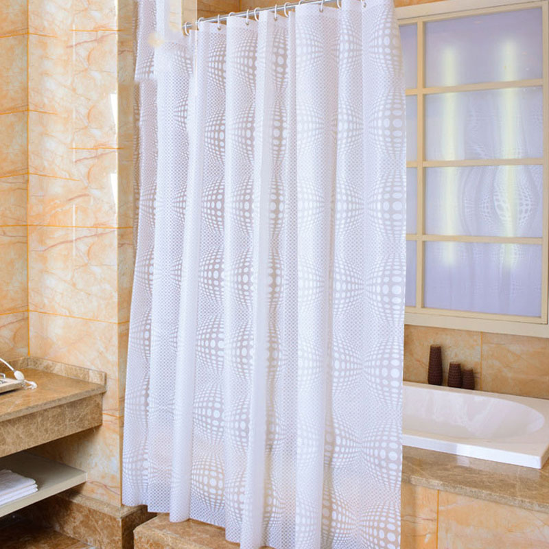 2017 Peva Waterproof Shower Curtains Bathroom White Simple Design 12 C Hooks Protection Le Pattern Hot Various Size In From Home