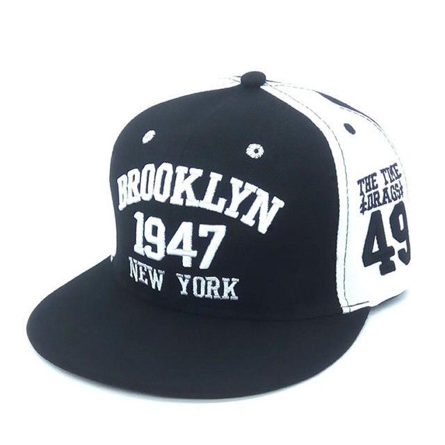 YM Ropa de Marca de Moda Unisex 1947 Estilos Brooklyn Gorra de Béisbol  Snapbacks Hueso Casquette 6d4db93eb5f