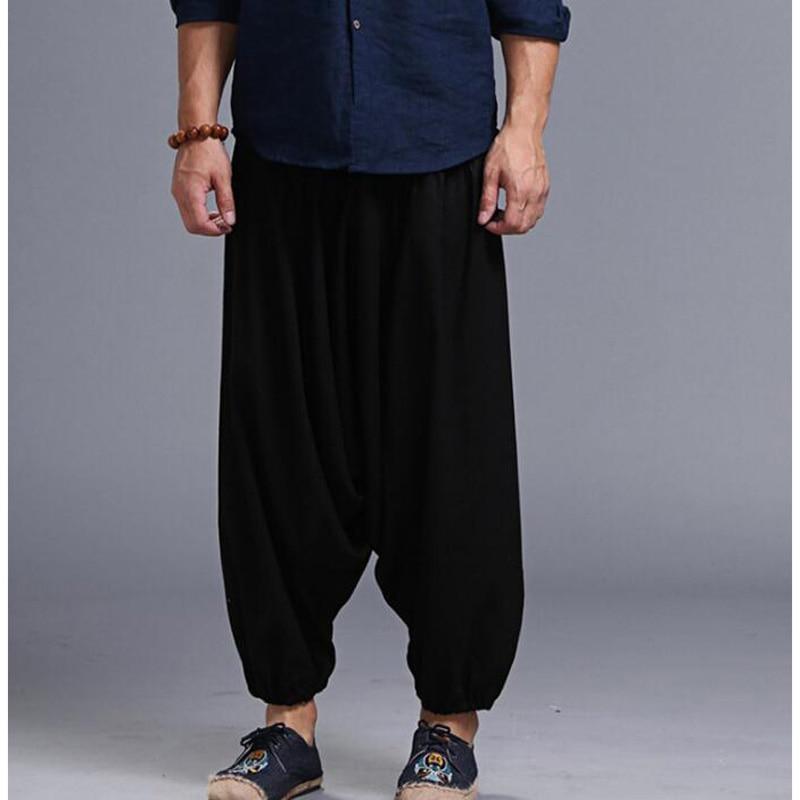 Men's Loose Style Linen Pants 5