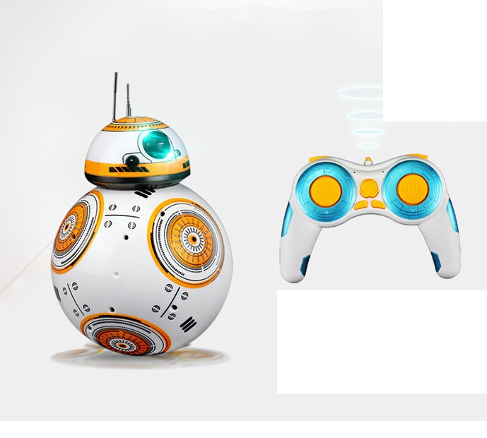 Star Wars 7 RC Remote Control BB8 Robot Capatain America 2.4G remote control intelligent Figures Toys small ball Toy kids gift