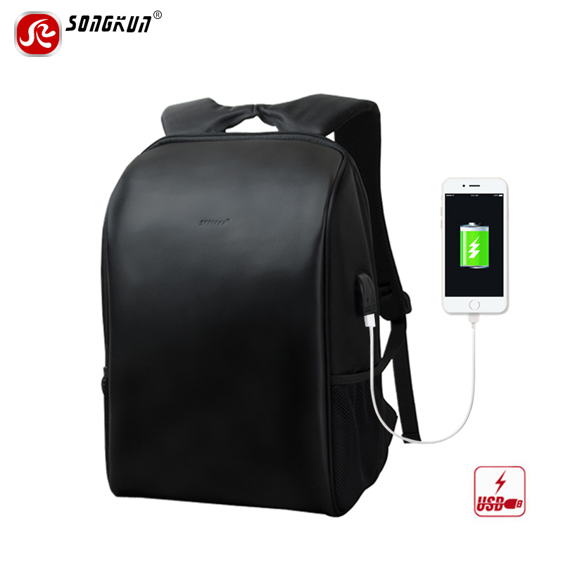 Songkun Large Capacity Laptop Backpack Men Business Travel Bag USB Charge School Bag Waterproof Anti-theft Women Backpacks men backpack student school bag for teenager boys large capacity trip backpacks laptop backpack for 15 inches mochila masculina