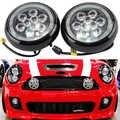 2x phare antibrouillard pour MINI Cooper 2nd Gen R55 R56 R57 R58 R60 R61 | Phare de rallye en forme de journée de voiture DRL, avec anneau Halo