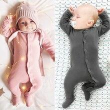 2020 bebê macacão de algodão térmico primavera inverno recém nascidos meninos meninas roupas infantis do bebê manga longa macacão frete grátis
