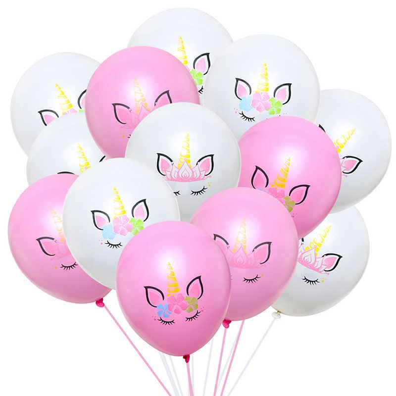 10 יח'\סט 12 אינץ Unicornio Unicorn מעובה לטקס בלון חתונת יום הולדת שמח נושא מסיבת קישוט למבוגרים ילדים תינוק מקלחת
