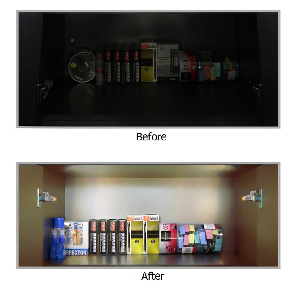 10 шт., Универсальный светодиодный светильник с внутренней петлей для шкафа, сенсорный светильник для кухни, ночной Светильник для спальни, гостиной, шкафа, шкафа, гардероба, светильник