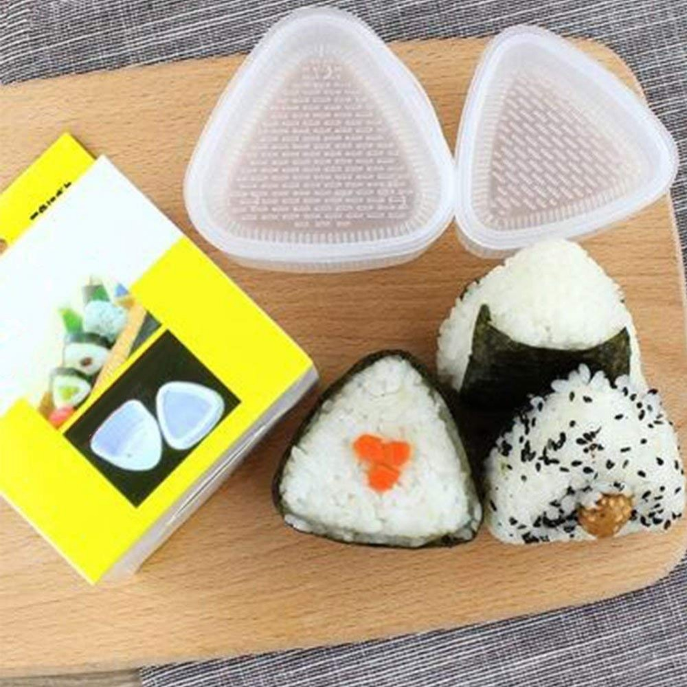 4PCS/Set Triangular Sushi Mold Onigiri Rice Ball Bento Press Sushi Maker Mould DIY Tools title=
