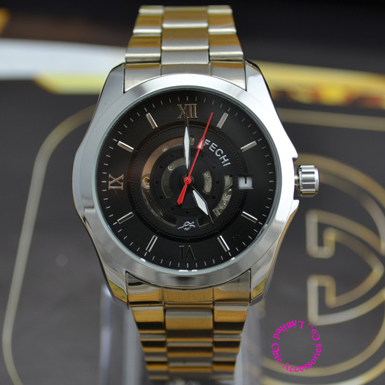 Coupon for wholesale buyer price good quality business man steel band black date show automatic self wind Mechanical wrist Watch high quality lowest price wholesale kz 19 pneumatic combination steel metal strapping packing machine for 19mm steel strap tape