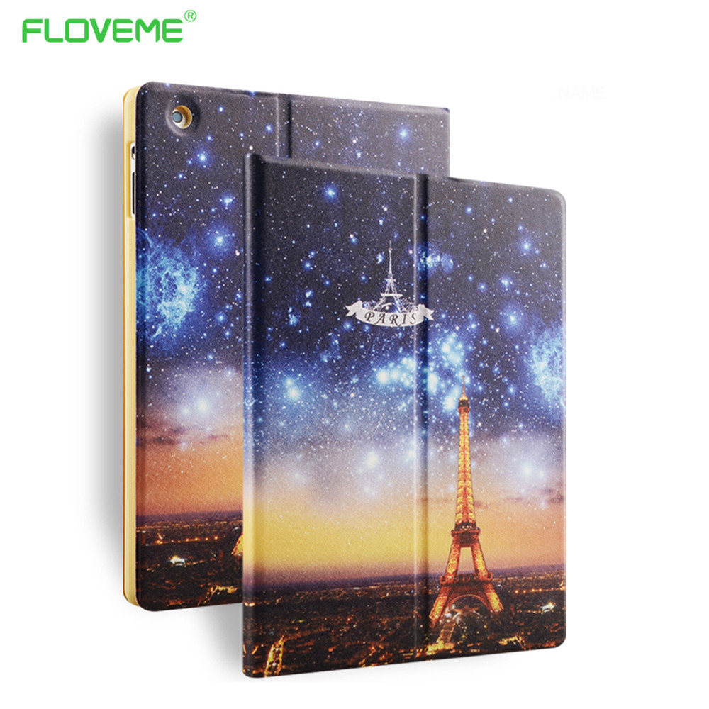 FLOVEME For iPad Mini 2 3 4 Ultra Art Print Tablet Leather Case For iPad Air1 2 Colored Drawing Pattern Shell Cover For iPad 5 6