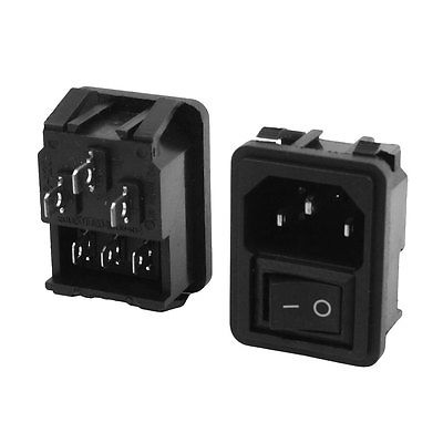 цена на 2pcs Replacement C14 Power Socket Plug On/Off Rocker Switch AC 250V 10A