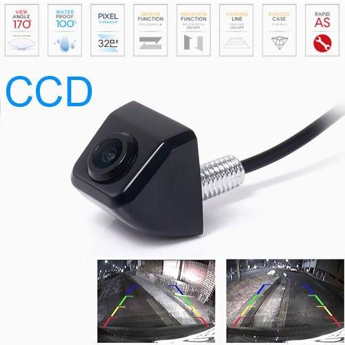 imágenes para HD CCD Wired Wireless 170 grados de Visión Trasera Lateral Frontal de Color Noche Vison Cámara DE SEGURIDAD con/sin marcar línea