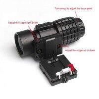 Air Aim 3X Magnifier Scope Compact Tactical Sight with Flip to 20mm Rifle Gun Rail Mount For Soft Air Gun Rifle Sight