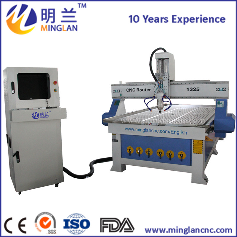 ML 1325 3.2KW spindle cnc router 1300mm*2500mm*200mm wood cutting and engraving machine