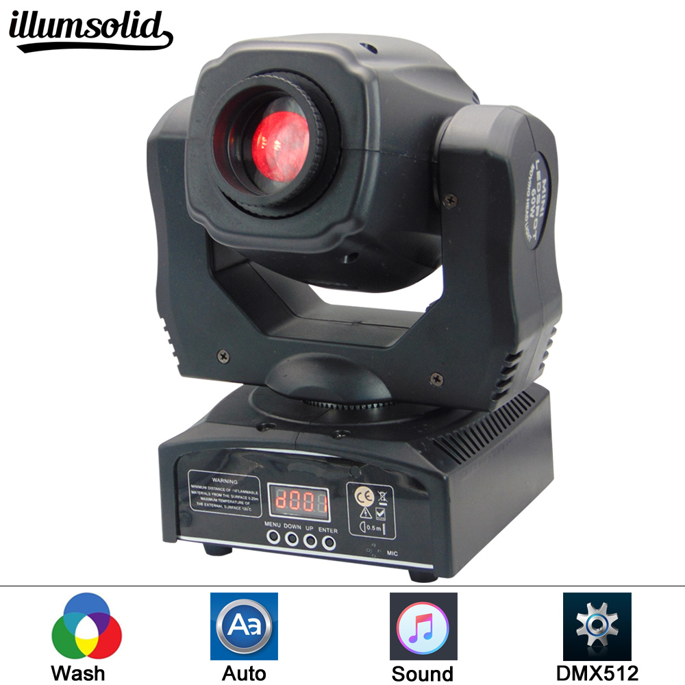 Mini Spot 60W LED Luce In Movimento Testa Con Gobo Piatto e Piatto di Colore, alta Luminosità 60W Mini Testa Mobile A Led Luce DMX512