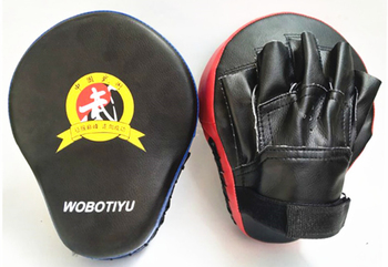 Quality Hand Target MMA Martial Thai Kick Pad Kit Black Karate Training Mitt Focus Punch Pads Sparring Boxing Bags 9