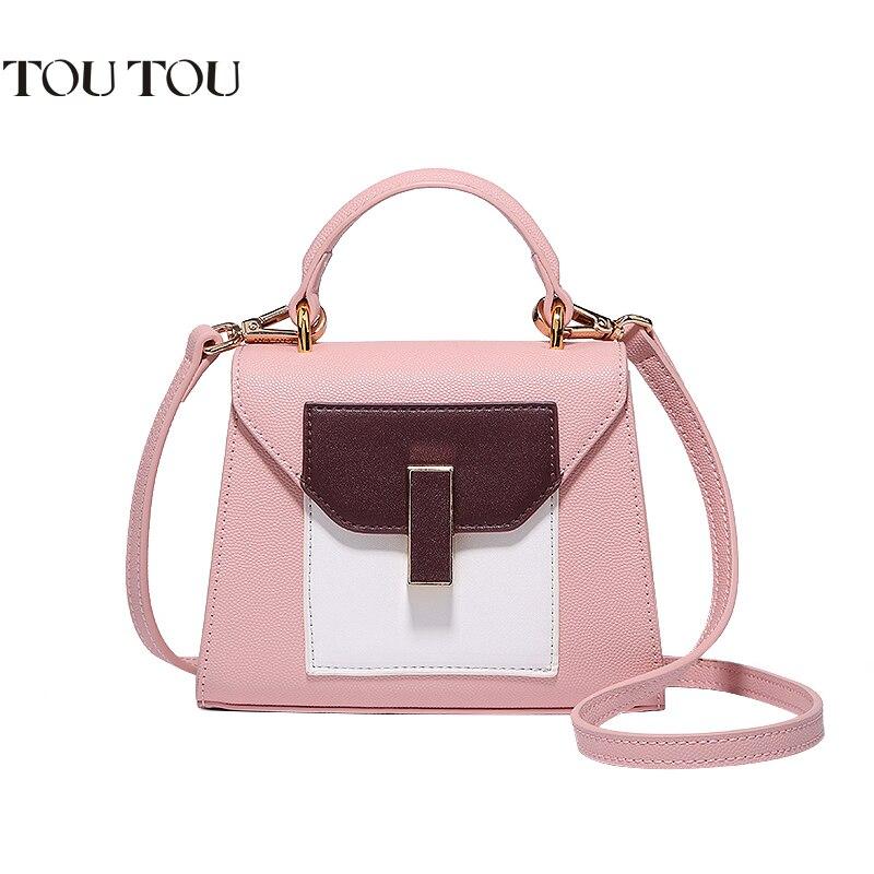 цена на A1680 Tote Bags Fashion Stitching Luxury Handbag Shoulder Messenger Bag for Women Torebka Damska Sac a main Femme Crossbody