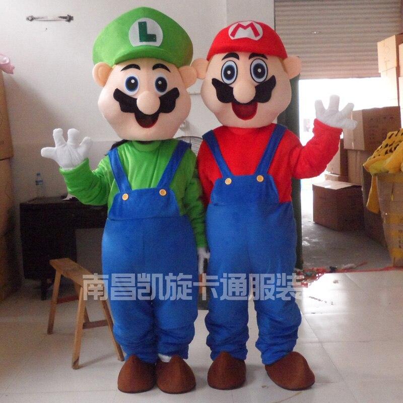 Anime Dos Desenhos Animados Super Mario Luigi Traje Da Mascote Vestido de Festa do Dia Das Bruxas Para Adultos Role Play
