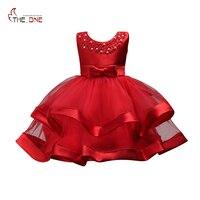 MUABABY Girls Elegant Evening Dress Bowknot Sleeveless Summer Christmas Costume Children Mesh Ball Gown Party Princess
