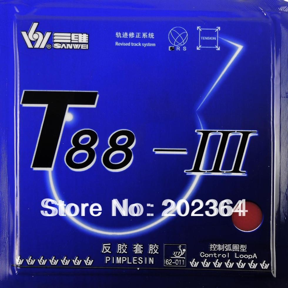 Sanwei T88-III T88-3 Control Loop Pimples In Table Tennis Rubber With Sponge