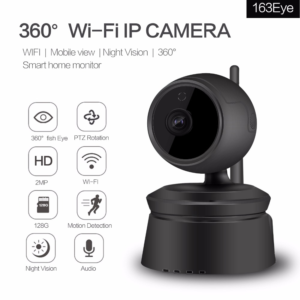 Home Security IP Camera,HD 1080P Wifi Wireless Network,Night Vision,Two-Way Audio,Motion Detection,CCTV Baby Pet Monitor,Black bw wifi wireless hd 720p smart p2p ip box camera two way voice intercom motion detection ptz baby monitor automatic alarm cctv
