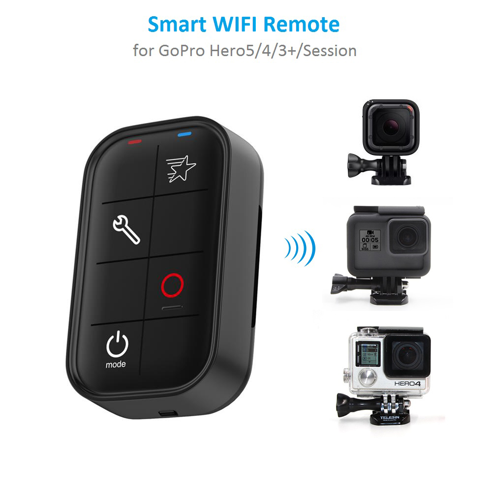 1M Waterproof <font><b>Smart</b></font> WIFI <font><b>Remote</b></font> Control Set Controller Charging Cable for <font><b>GoPro</b></font> <font><b>Hero</b></font> <font><b>6</b></font> <font><b>Hero</b></font> 5 <font><b>Hero</b></font> 4 Session <font><b>Hero</b></font> 3+ image