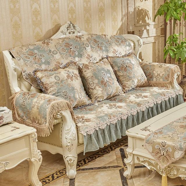 Luxury sofa runner @ cover – Chenille Jacquard