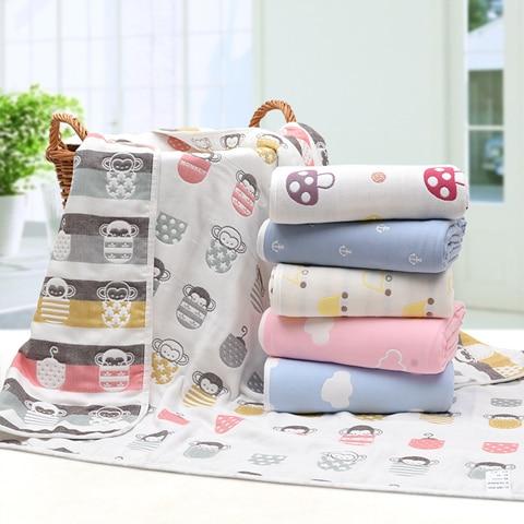 Newborn Cotton Baby Swadding Blanket Muslin Super Soft Baby Wrap Bedding Infand Baby Boy Girl Swaddles Baby Wrap Decor 110*110cm