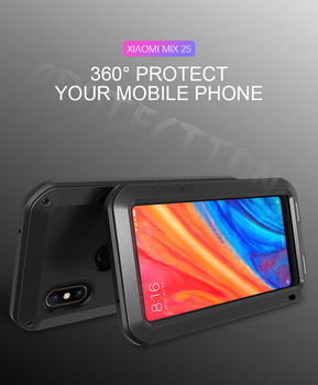 Original Love Mei Powerful Case For xiaomi mix 2s 5.99 inch Waterproof Shockproof Aluminum Case Cover with free Tempered Glass