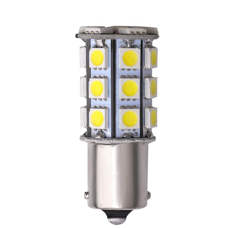 1PCS Car 1156 Led White BA15S Led Brake Lamp P21W Led Auto Brake Reserse Turn Signal Lights Parking Lamp Bulb 12V