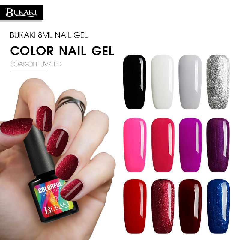Gel Nail Polish Sale: Aliexpress.com : Buy BUKAKI Pure Colors Painting Gel Nail