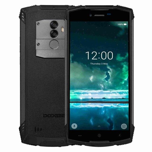 Купить DOOGEE S55 смартфон IP68 Водонепроницаемый MTK6750T Octa Core Android 8,0 4 Гб + 64 Гб 13MP двойная камера ОТА отпечатков пальцев 5,5 дюймов мобильный телефон на Алиэкспресс