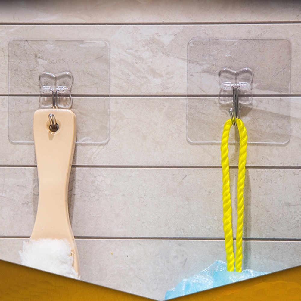 10 sztuk Sucker hook silne przezroczyste ssania gładkie 6x6 cm wodoodporna przyssawki Sucker wieszaki ścienne wieszak kuchnia łazienka do przechowywania F125