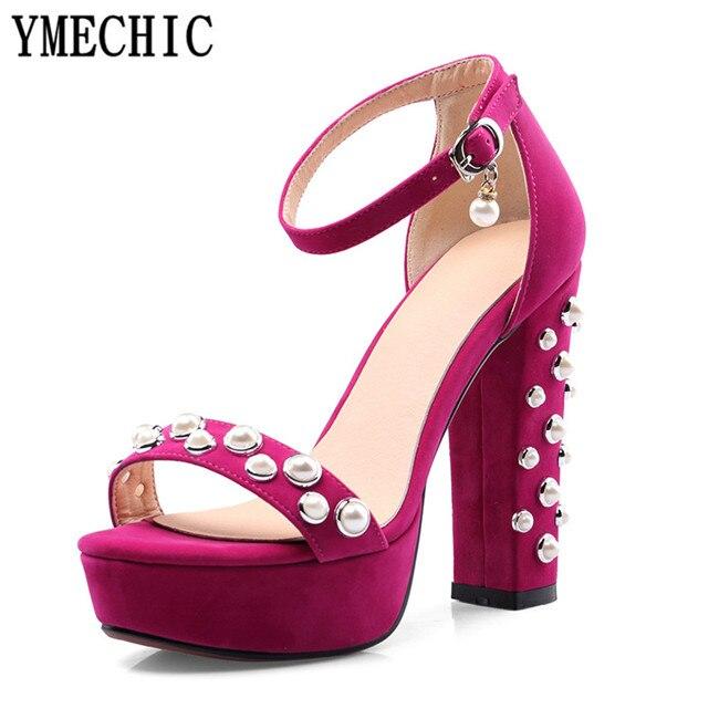 Noir Ymechic Taille Chaussures Rouge Sangle 2018 Hauts Sandales 35RLqcj4A
