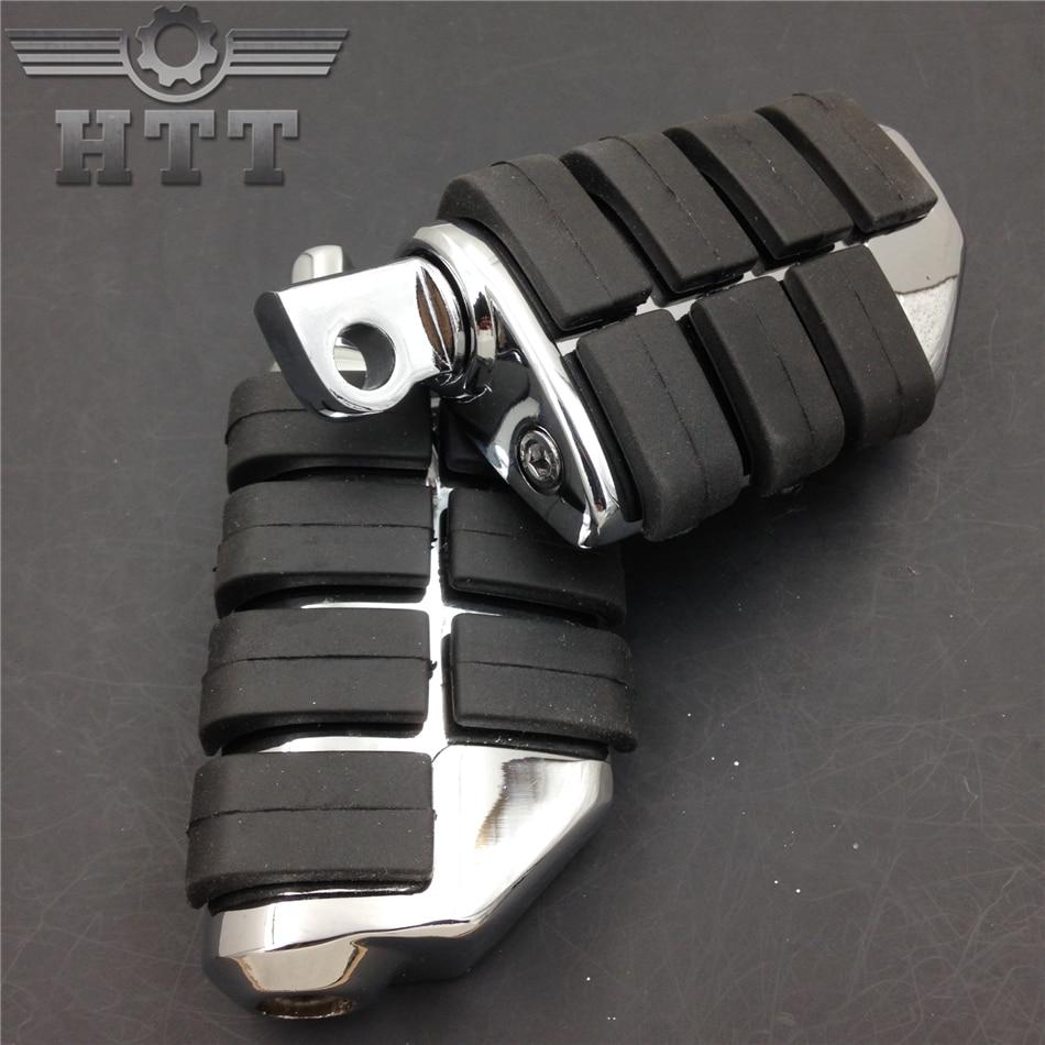 Pièces de rechange livraison gratuite pièces de moto 8028 ISO repose-pieds Dually pour Harle Touring Electra Glide Softail & Dyna chromé