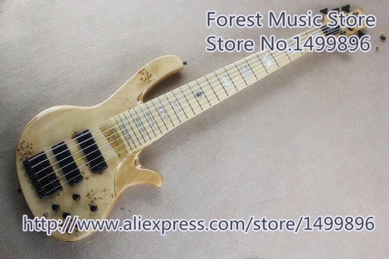 Guitare basse électrique de corps de guitare de cendre de la chaîne 6 de deOlivera avec les matériels noirs à vendre