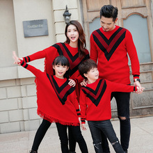 dd785473e8 Christmas family matching father mother daughter son mom mommy and me  clothes family look knit sweaters