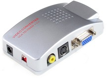 Новый VGA Для Видео Универсальный PC VGA к ТЕЛЕВИЗОРУ AV RCA сигнала Адаптер Конвертер Видео Распределительной Коробки Поддерживает NTSC системы PAL YZ1801