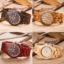 Nuevos Estilos de moda De Madera De Arce Luxulry Marca Relojes hombres Reloj Banda De Madera De Bambú de madera de Sándalo Pulsera Casual relojes hombre