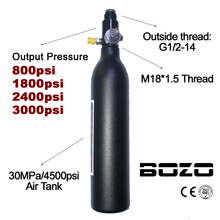 פיינטבול PCP צלילה העפלה אוויר טנק צילינדר 4500psi/30MPA 0.2 0.35 0.45L HPA גבוהה דחוס בקבוק M18 * 1.5 רגולטור