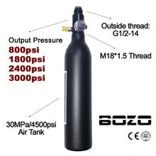 Paintball PCP Duiken Bergbeklimmen Air Tank Cilinder 4500psi/30MPA 0.2 0.35 0.45L HPA Hoge Gecomprimeerd Fles M18 * 1.5 regulator