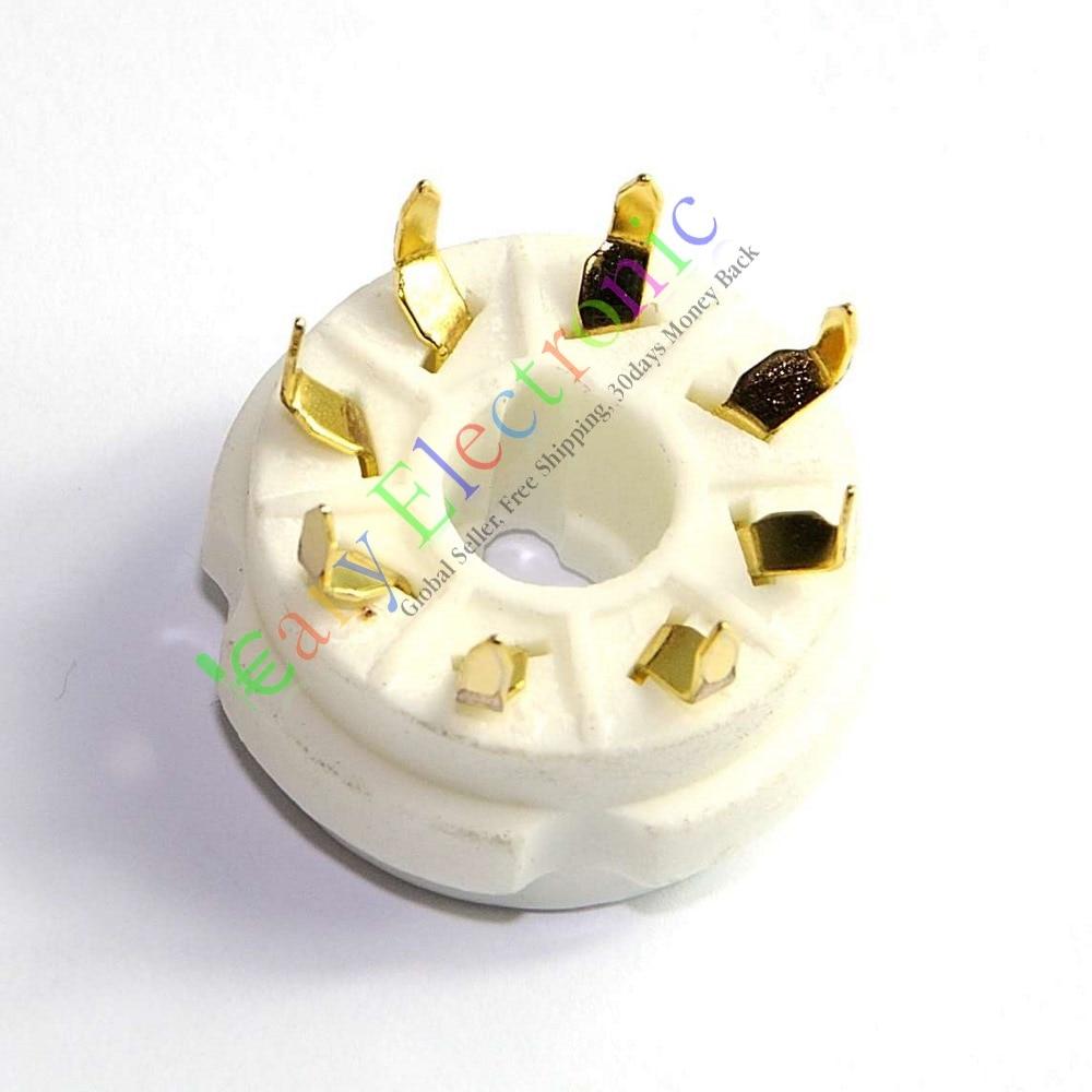 도매 및 소매 6pc 8PIN PCB 마운트 골드 세라믹 진공 - 휴대용 오디오 및 비디오