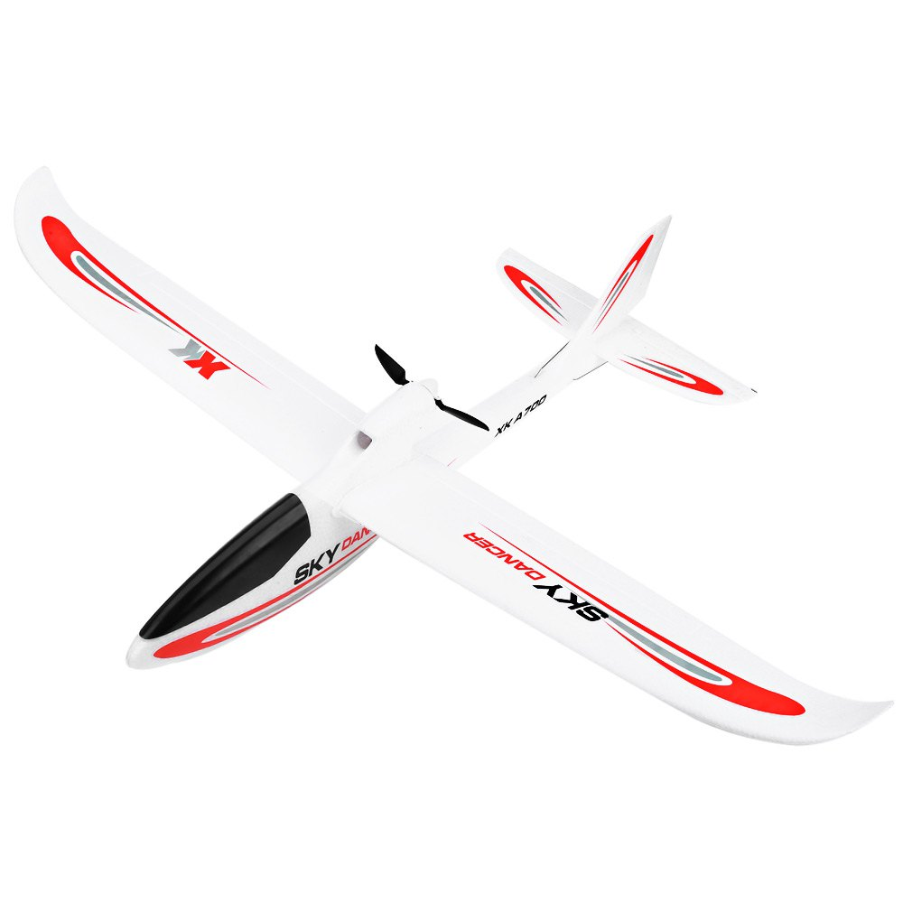 XK A700C RC Airplane Toy 3CH 2.4G Radio Control N60 Brush Motor Fixed-wind RTF Glider Powerful Sky Dancer 3D Lock Mode Airplanes make haste f35 9109 4 channel 2 4ghz rc radio control airplane glider grey