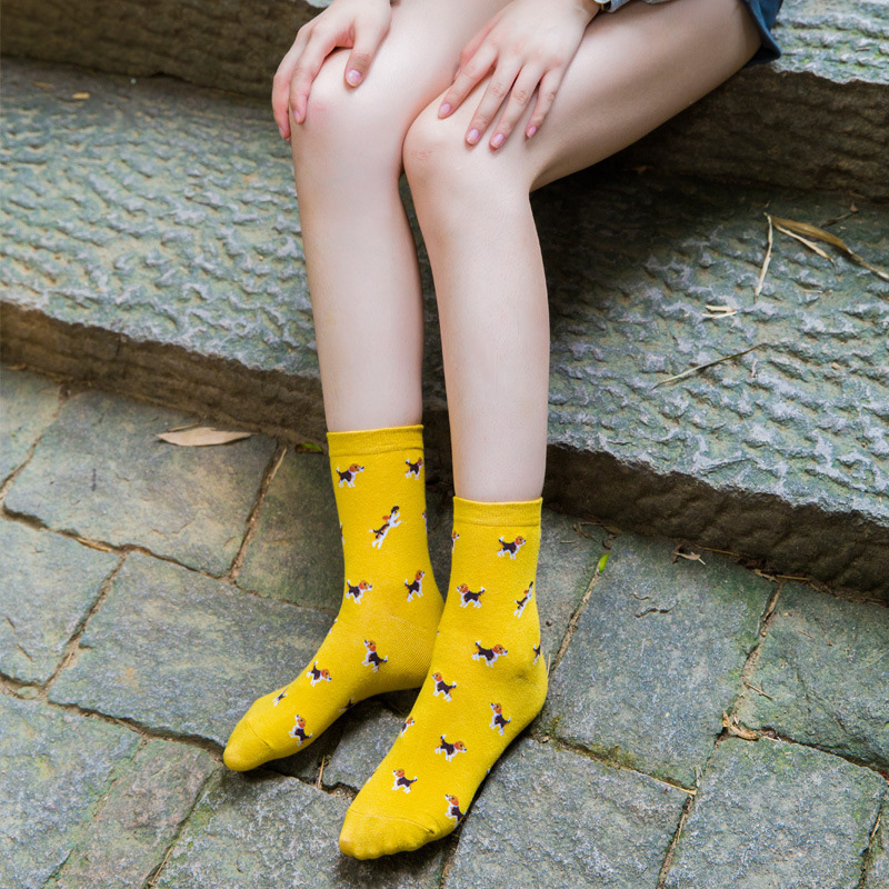 Women Daily   Socks   Harajuku Korea Japanese Cotton Kitten Flame   Socks   Men Chinese Cactus Gun Shark Alien Students   Socks