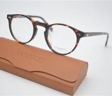 Vintage Optical Glasses Frame Opliy OV5186 Gregory Peck 47mm Eyeglasses For Men and Women Eyewear Frames With Case