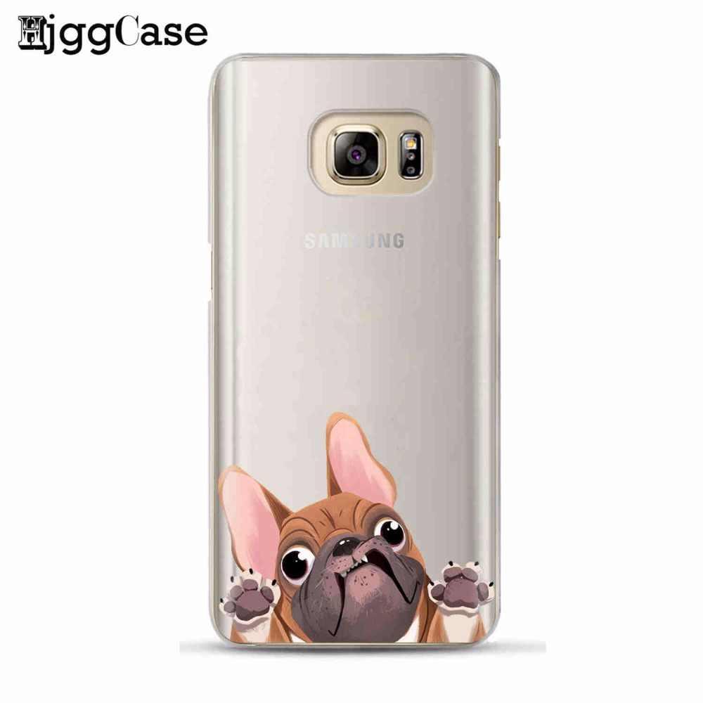 Стильная футболка с изображением персонажей видеоигр животных кошка собака бульдог чехол для телефона для Samsung Galaxy S6 S7 край S8 S9 плюс J3 J5 J7 A3 A5 A7 2016 2017 A8 плюс 2018