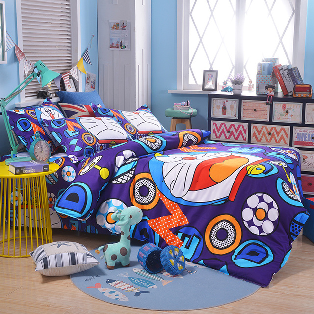 UNIKIDS Cute cartoon duvet cover set  bedding set for Kids boy or girls Twin size  KT009