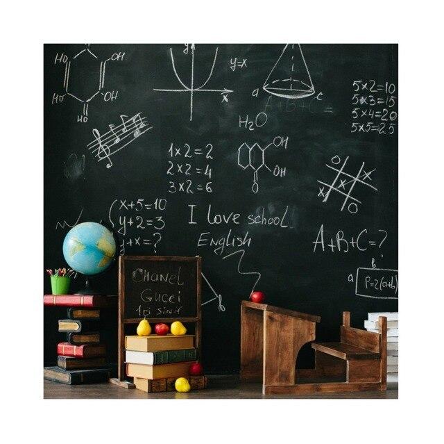 Back To School Blackboard Chalk Globe Book Study Classroom Child Portrait Photography Backdrop Photo Background For Photo Studio