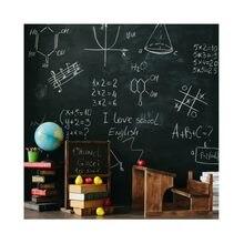 Fotografia de fundo desenho padrão blackboard volta para a escola giz globo livro estudo criança bebê foto fundo estúdio